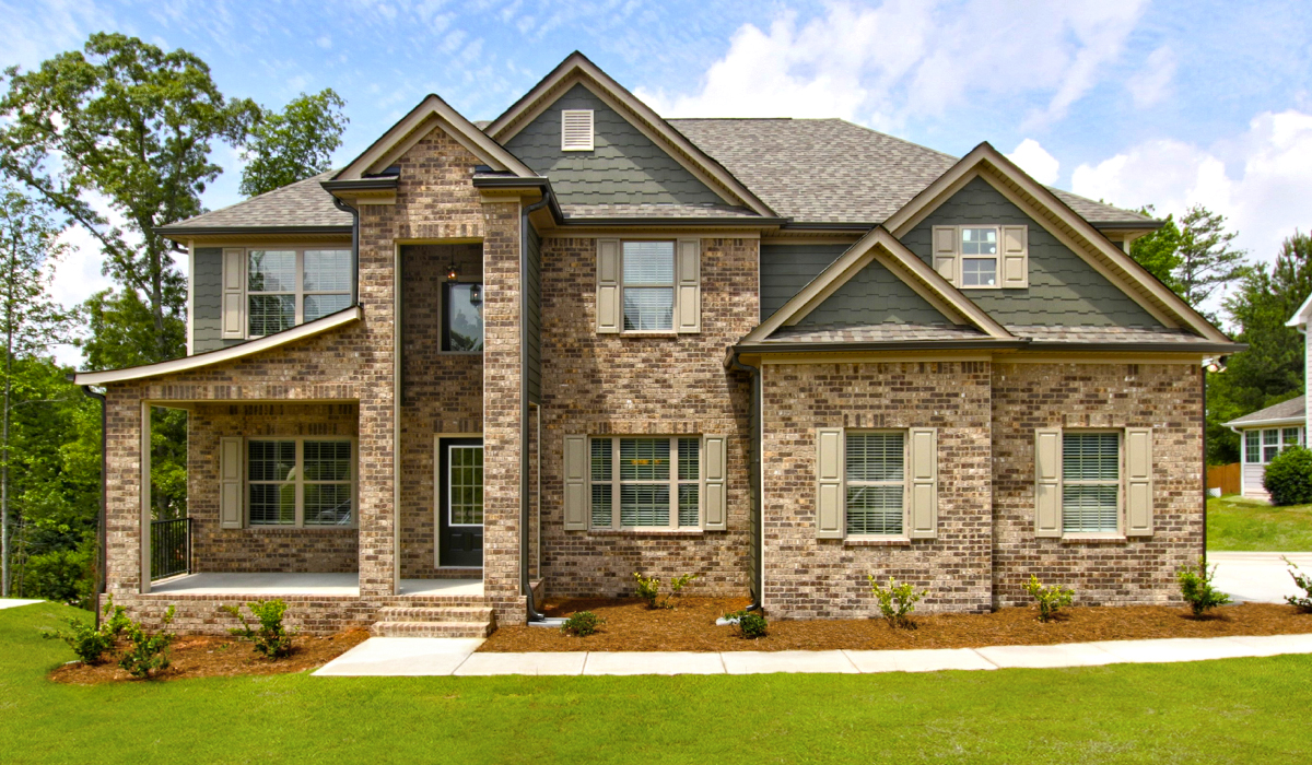 the exterior of a preakness home comes with many features