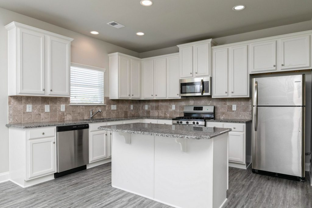 a kitchen in a silverstone home