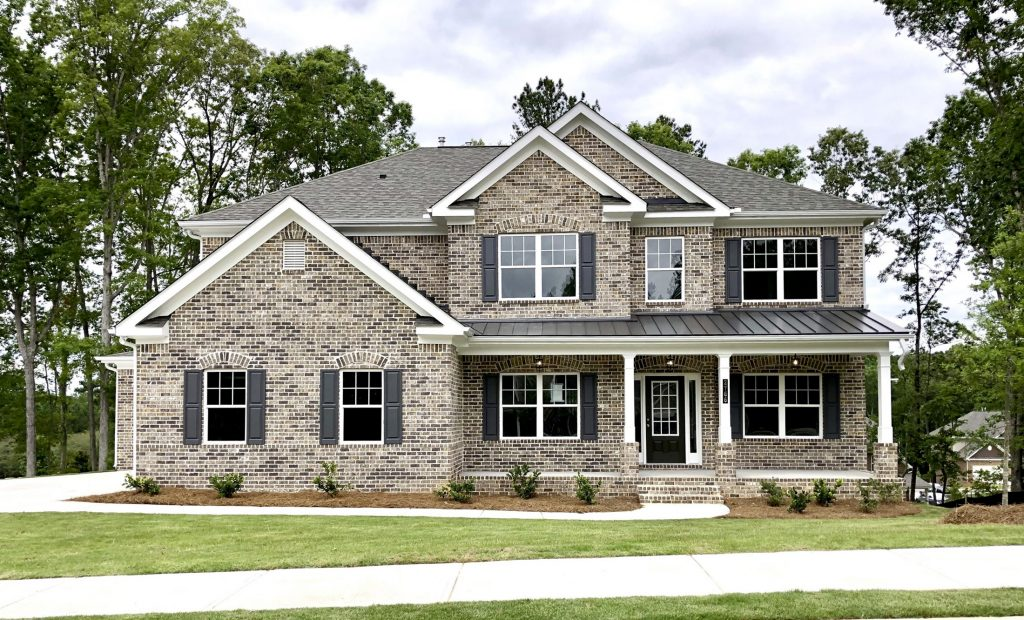 the exterior of a new home in conyers at centennial village