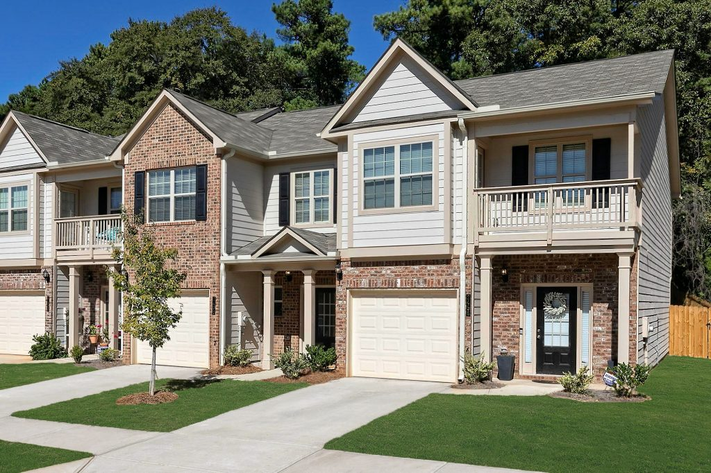 A townhome in a new homes community near Atlanta