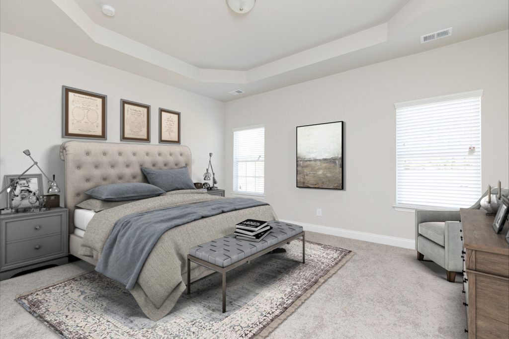 a room in a silverstone new home ready for pets to move in
