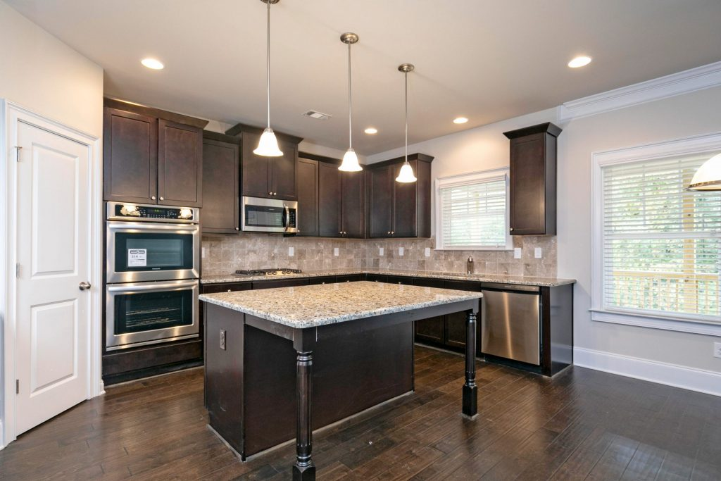 a kitchen in a brand new Silverstone Communities home